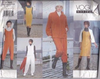 Vogue Sewing Pattern - No 2365 Jacket, Vest, Jumper, Jumpsuit, Pants  Size 12-16 Factory folded and complete
