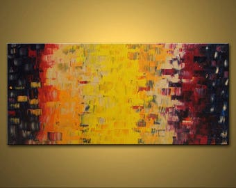 """no26 Original Huge Large Abstract Modern Art Oil Painting - Michel Campeau - MADE TO ODER - 36''x72"""""""