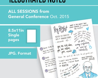 1 per page 8.5x11in page General Conference Illustrated Notes - Oct 2015