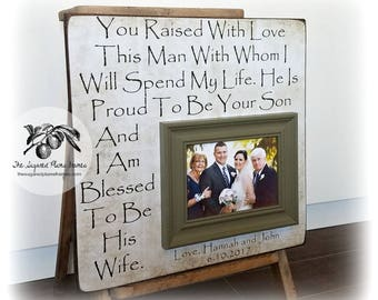 Mother of the Groom Gift, Parents of the Groom Gift, Wedding Thank You, Mother of the Groom Picture Frame, 16x16 The Sugared Plums Frames
