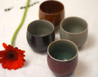Alexandra box - set of four stoneware coffee cups