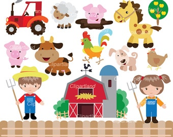farm mom and baby clipart family clipart 16055