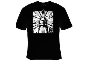 cool native t-shirt Native American Indian Chief T-shirt american indians t-shirts