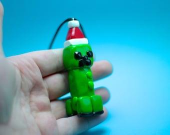 Minecraft Creeper Ornament - Minecraft Decoration - Polymer Clay Ornament - Christmas Ornament - Keepsake Ornament