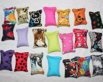 4 Handmade Cat Toy Catnip Pillows Randomly Selected