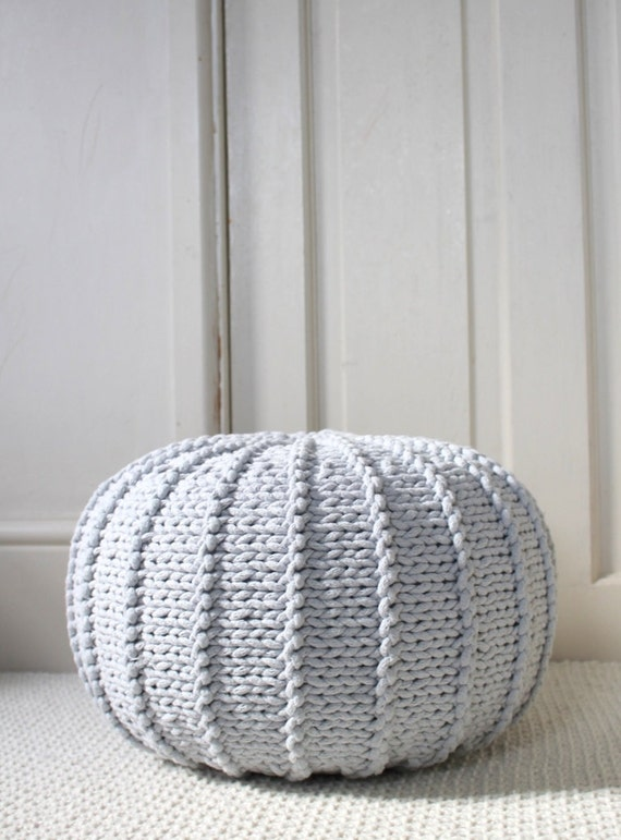 medium house knit floor light sarahmariefay ottoman australia com knitted pouf grey