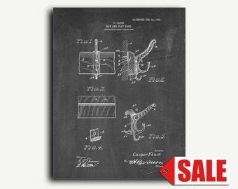 Patent Art - Hat and Coat Hook Patent Wall Art Print