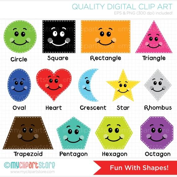 clipart fun with shapes educational teachers digital rh etsy com shapes clip art free shapes clip artist net