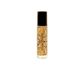 Orange blossom perfume roll on fragrance essential oil perfume floral perfume  orange blossom fragrance oil womens fragrance summer perfume
