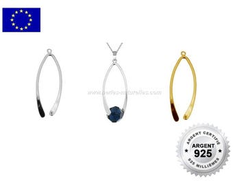 925 Silver with Gold 24K - Pendant 38mm