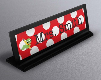 personalized teacher gift, desk name plate, name plaque, teacher appreciation gift, end of year gift, teacher name sign, classroom decor