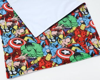 Marvel Baby Waterproof Changing Pad Baby Items Baby Shower Gift, Super Hero Baby Lovey, Travel Changing Pad