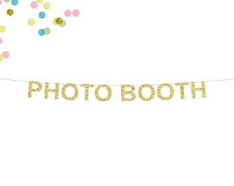 Photo Booth Glitter Banner   Photo Booth Sign   Wedding Decor   Photo Booth Decor   Wedding Reception   Wedding Photo Booth   Glitter Banner