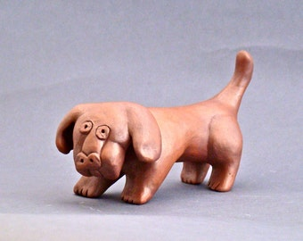 Whimsical Ceramic Dog Sculpture, Friedrick