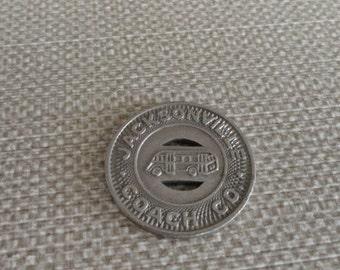 C089)  Vintage Jacksonville School Bus Token coin