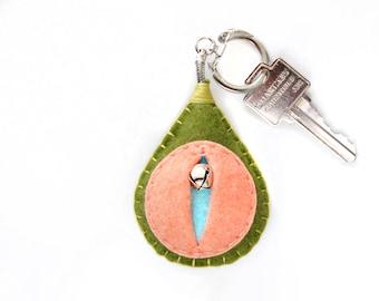 Vagina key chain, vulva keyfob, lesbian keyring, gay housewarming gift, feminist totem, midwifery gift, as seen on HuffPo.com {Eartha Key}