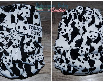 OS One Size Panda Toss AI2 All in Two Cloth Diaper