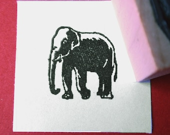 Little Elephant Rubber Stamp - Handmade rubber stamp by Blossom Stamps