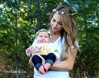 CUSTOM//Mommy & Me//Wedding//Prom//Boho//Rustic//Headpiece//Gorgeous//Adjustable//Flower Crown