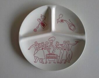 Vintage Dividend Picnic Plate.