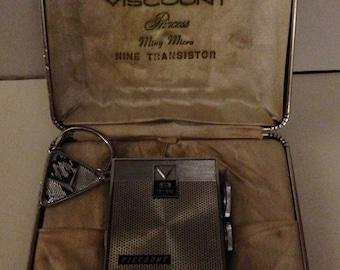 Vintage Viscount Mini Nine Transistor AM radio