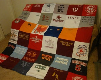 Custom T Shirt Memory Blanket For Him or Her or YOU