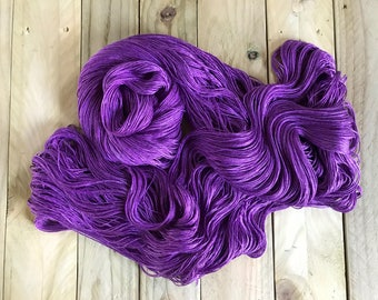 Sea Nymph Silk/SeaCell Yarn. Ultra Violet
