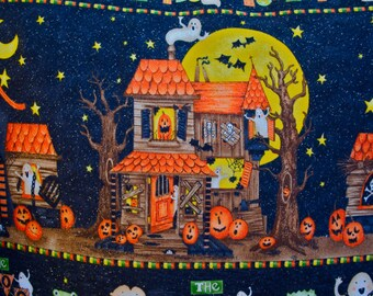 Halloween Haunted House Pillow, Decorative Toss Pillow cover, Accent Pillow, Throw Pillow, Pillowcase - Fits 12x16 inch form