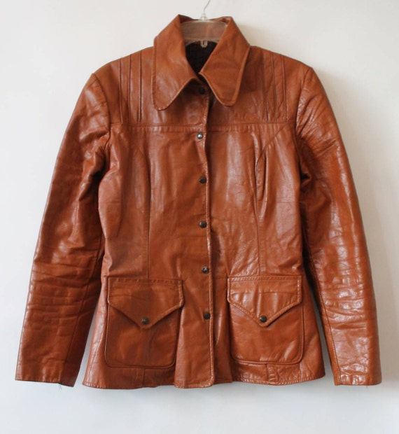 Vintage Small Butterscotch Soft Leather Blazer Early 1990s uiRgVw