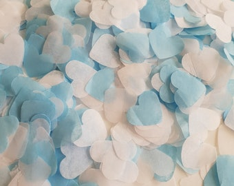 Oxford blue - White throwing and table decor heart confetti variation.Wedding-Birthday-Baby showers and more decor