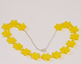 Flower Chain Necklace - Acrylic
