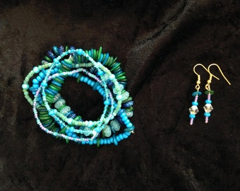 Summer Cruise Bracelet & Earring Set