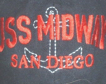 US Navy USS Midway CV-41 museum San Diego, California ballcap new with tag