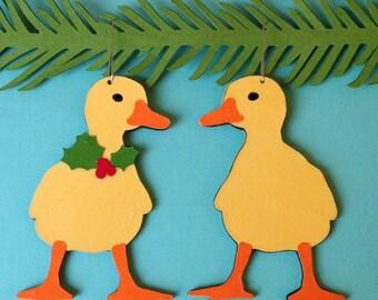 Duckling Christmas tree ornament