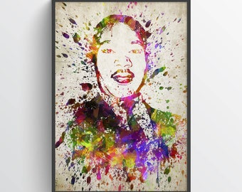 Martin Luther King In Color Poster, Home Decor, Gift Idea, Martin Luther King Art, Martin Luther King Print,