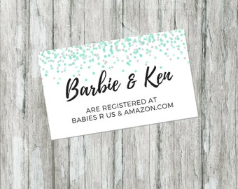 This is a picture of Crush Free Printable Baby Registry Cards