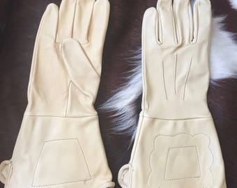 Cavalry civil War/Indian Wars Buckskin Gauntlets - Reproductions
