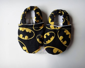 Batman ~ Stay-On Shoes/Slippers ~ Size 6-9 months ~ READY TO SHIP!