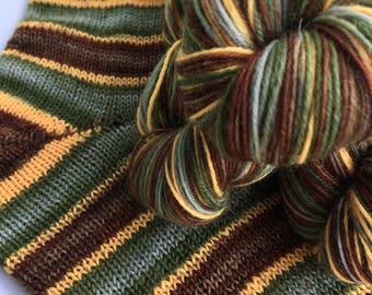Hand dyed self striping sock yarn - 29 Neibolt Street