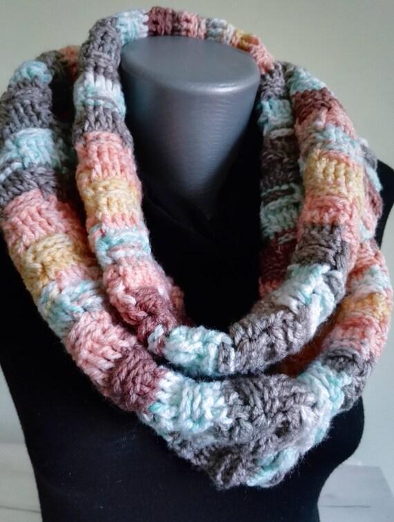 Basket Weave Schal häkeln Schal Multicolor Schal Unisex Schal
