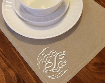 Monogrammed Canvas Placemats (set of four)