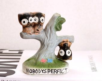 vintage Nobody's Perfect owl statue