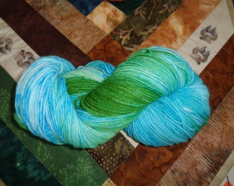 Springtime Hand Painted SW Wool/Nylon Fingering Wt. Yarn