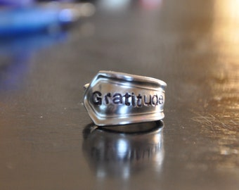 Gratitude Spoon Ring
