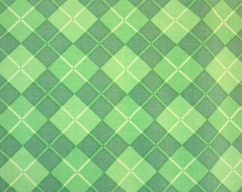 Henry Glass -   Lucky Me! by Shelly Comiskey of Simply Shelly Designs - 6851-66  Argyle-Green - More In Stock