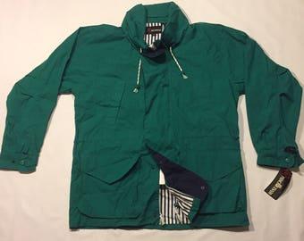 90's green nautical jacket green deadstock nwt parka