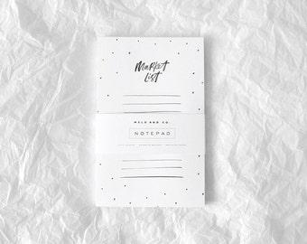 Market List Magnetic Notepad