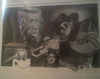Miles Davis signed and numbered print