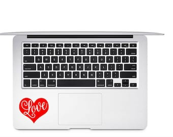 Love Decal, Heart Decal, Wine Glass Decal, Vinyl Decal