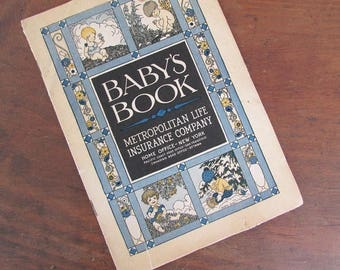 Baby's Book Vintage Pamphlet Metropolitan Life Insurance Company Baby's First Year Booklet